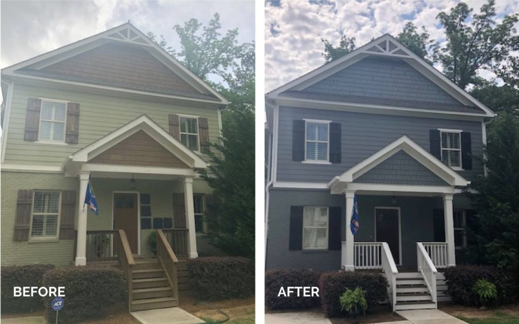 before after exterior painting